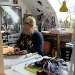 Sara Legind-Hansen på besøg hos Betina Miemietz