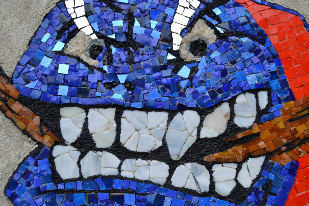 The Beast - Icehockey Mosaic by Sara Legind-Hansen